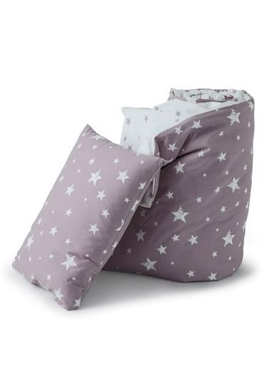 Hibboux 100x150 Star Bebek Nevresim + Yastık Kılıfı - Lavender Renkli